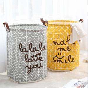 Lattice printing Storage Bags INS cartoon Handbags Kids Toys Dirty clothes basket 40*50cm large capacity Storage basket 11 colors LXL254-A
