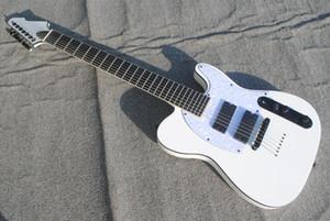 7 cordes Blanc Guitare électrique Nouvelle arrivée guitares en gros Top Instruments de musique