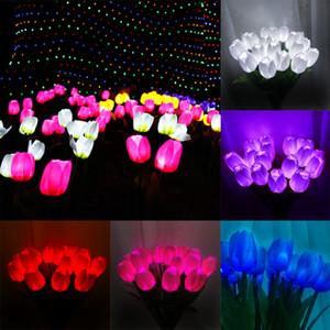 أدت ألوان متعددة خزامى الحديقة حديقة مصباح الديكور المكونات الخفيفة في الهواء الطلق المشهد محاكاة للماء أضواء XD22676 تسليم DHL