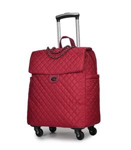 Сумка для багажа портативный путешествия тележки сумки на колесах прокатки камера женщина сумка тележка чемодан ручной клади сумки путешествия рюкзак