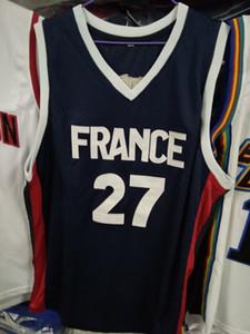 реальные фотографии 2019 Чемпионат мира сборная Франции баскетбольная Майка Frank Ntilikina 27 Evan Fournier custom jersey любой размер любое имя