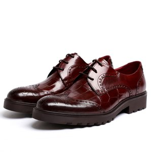 Men's Leather Shoes Large Size Cowhide Formal Wear Wedding Shoes Ever Zapatos De Hombre