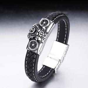 2020 hot Retro simple hip hop fashion business personalized Bracelet Mesh Bracelet titanium steel belt customized and wholesale
