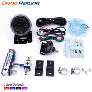 Dynoracing 60MM Car Racing Turbo indicador de impulso 30 psi + ajustável Turbo Boost Controlador Kit 1-30 PSI bitola na cabine
