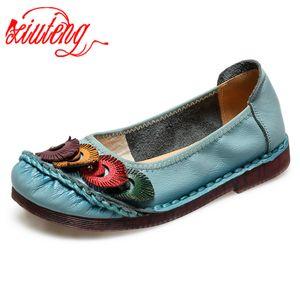 Xiuteng Nation Estilo Oxford Sapatos Mulheres 2020 Primavera de couro macio Oxfords Flats Shoes Casual Lace Up Retro Brogue Shoes006