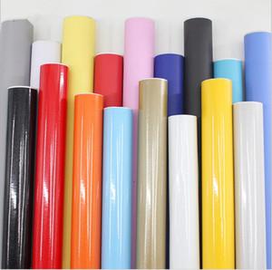 Espesar sólido de color fondo de pantalla PVC autoadhesivo perla pegatina muebles puerta del armario de pintura resistente al agua luz fondo de pantalla de alto brillo actualización