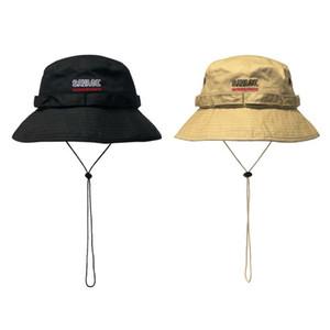 SAVAGE Windproof Rope Bucket Hat Ladies Women Men Sun Wide Brim Fishing Hat Fisherman Cap Panama Pop Hip Hop Harajuku Hunting Outdoor Summer