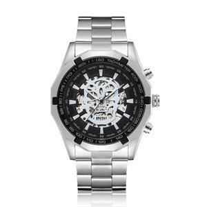Gorben Altın / Gümüş Çelik Bant Moda İş Mekanik İzle Otomatik Mekanik Erkek Saat Su geçirmez saatler Bilek Watc