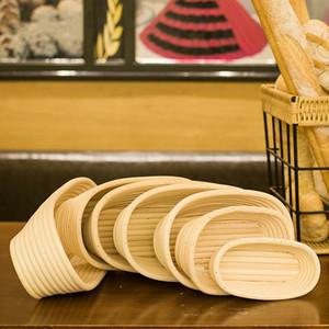 Brot prüfenden Korb Indonesien Rattan Europäische Gärung Schüssel Küche backen Werkzeug rund Teigform oval Weben gewebt