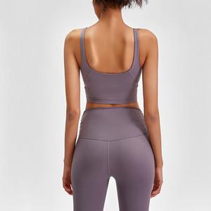 yogasports Sport-BH 2020 lu Yoga BH Frauen Unterwäsche stoßfest hochfeste gepolsterte Yoga BH Fitness-Workout Fitness-Weste Tanktops läuft