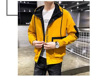 Men's Jacket Luxury Clothes Autumn Tops Street Style Hip Hop Designer Thin Good Quality Men Hooded Slim Men's Jacket Plus Size M--4XL 07