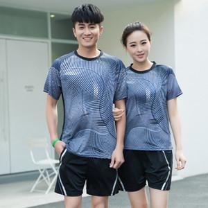 Neue Tischtennisbekleidung, Qucik-Badminton-Trockenkleidung für Damen / Herren, Tennisanzug, Badminton-Sets A106