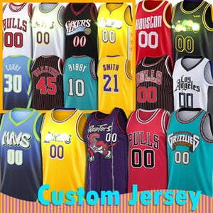 Personalizzato Chicago Bulls Toronto Raptors JR Smith Jersey Dalla Memphis Grizzlies Mavericks Los Angeles Philadelphia 76ers Houston Pallacanestro