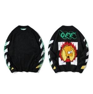 Pareja de punto suéteres de alta calidad correcta versión Tide Marca suéter flojo Llama Simpson mohair jersey de punto