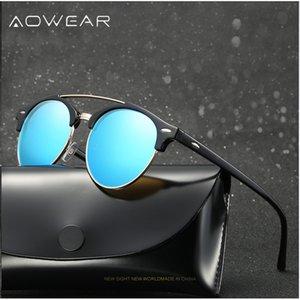 AOWEAR Klasik Erkek / Bayan Polarize Güneş Gözlüğü Unisex fashinable Retro Erkekler Gözlük Kadınlar Açık Sürüş Aksesuarları Gafas De Sol