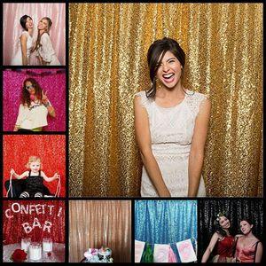 Fotoğraf Stüdyosu Parti Dekor için 120x180cm Gümüş Altın Pembe Altın şampanya Pullu Kumaş Backdrop Wedding Photo Arkaplan