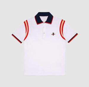 Nuova estate Mens Polo Moda Uomo T-shirt ricamo Bee Maniche corte Polo Classic base superiore Streetwear Moda T formato M-3XL