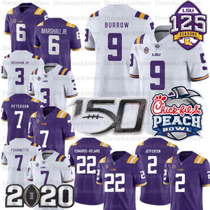 Ncaa Ja'Marr Chase Joe Burrow Justin Jefferson Clyde Edwards Helire Derrius Guice Beckham Jr. LSU Tigers Custom Jerseys