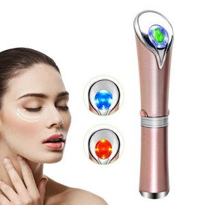 Electric Eye Facial Massager Wand Ionic Jade Roller Heat Sonic Vibration