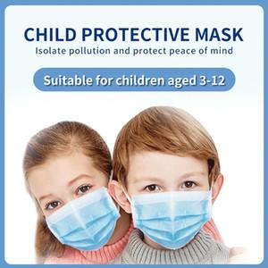 Kindergröße Einweg-Gesichtsmaske Blau Kind Kids 3 Ebenenmaske Earloop Non-Woven Gewebe Freies Verschiffen