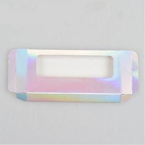 25mm 3D Mink Lashes caja rectangular de cartón de embalaje caja pestañas falsas sin logotipo cosmética de la pestaña vacía Caja de empaquetado