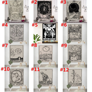 150*100cm Tarot Card Tapestry Astrology Sun Moon Printting Tapestry Yoga Beach Mat Polyester Wall Hanging Home Room Decor HHA1176