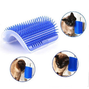 Corner Pet Brush Comb Play Cat Toy Plastic Scratch Bristles Arch Massager Self Grooming Cat Scratcher