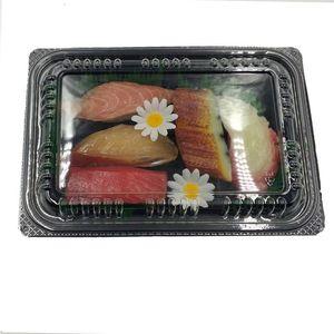 20PCS desechable Take Out Ensalada Cajas rectángulo torta de cajas de embalaje de arroz envase de alimento Llevar a cabo cajas desechables Vajilla