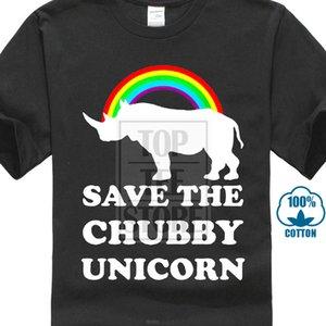 Sauvez la licorne potelée T-shirt Cadeau d'anniversaire drôle Slogan Rhino Animaux Sauvages