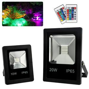 RGB LED luzes de inundação mudança da cor Spotlight ao ar livre com controle remoto IP65 impermeável Wall Washer Luz