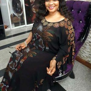 여성을위한 아프리카 드레스 2019 가을 Dashiki 다이아몬드 아프리카 의류 Bazin Broder Riche 섹시한 슬림 가운 저녁 긴 드레스