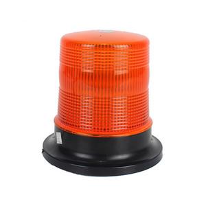 72LED Round pivotée Strobe Beacon avec avertissement magnétique Base de lampe flash pour les véhicules d'ingénierie Bus camion 12V