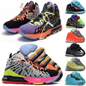 Cheap mens What the lebron 17 What the LBJ basketball shoes MVP Championship In Arena Oreo Black Purple Gold lebrons james xvii sneakers