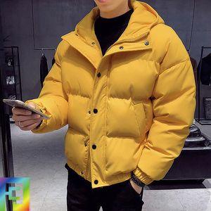 padded student fashion brand short cotton padded jacket Korean winter jacket thickened men's loose bread coat