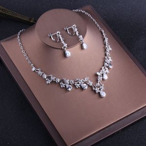 Charming Bridal Jewelry 2 Pieces Sets Necklace Earrings Bridal Jewelry Bridal Accessories Wedding Jewelry T213020