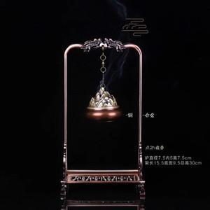 Yaratıcı Klasik Double Dragon Kapı Çerçeve Asma Fırını Pirinç tütsü brülör Alaşım Kapı Çerçeve Modelleme Hediye Nefis Hediye Kutusu