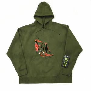 Moda-19FW Travis Scott conjunta TS militar verde gamuza podrida flor lazo teñido sudadera con capucha sudadera con capucha S-XL