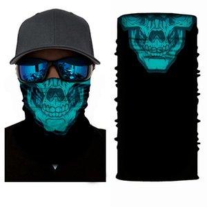 Bandeau écharpe Hip-hop Bandanas Head Echarpe Vintage Pocket Serviette magique cou extérieur crâne vélo Bandana visage masque KKA7822