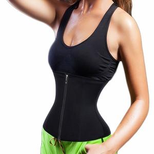 핫 3 클립 1 지퍼 4 나선 알맹이 고래 수염 허리 트레이너 코르셋 운동 몸 셰이퍼 체중 감소 식사는 제어 배가 팻 버너 쉐이프웨어에 대한