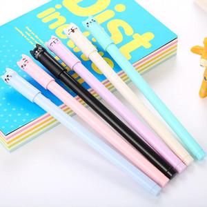 Creative stationery cap cat cartoon gel pen cute swing tail cat learning office gel pen LX1983