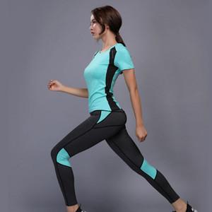 Fitness Anzug Frauen Badminton Set Plus Größe Sport Kleidung Tennis Shirt + Hosen Laufen Enge Jogginganzüge Für Frauen Yoga Workout Sport Anzug