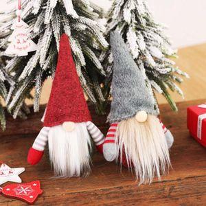 Natale Handmade Gnome svedese Scandinavian Tomte di Santa Nisse Nordic peluche Tabella Ornamento Xmas Tree Decorations ZZA1440-6