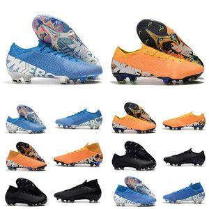 2020 Mercurial Superfly VI 360 Elite FG KJ 13s CR7 Ronaldo Erkek Yüksek Futbol Ayakkabı 13 Düşük Futbol Boots Kramponlar Boyutu 39-45