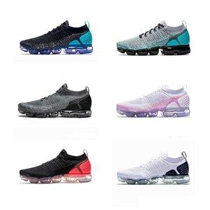Con la caja 2019 zapatos blancos Hombres Mujeres corriente del choque Corss Senderismo Footing zapatos para caminar al aire libre