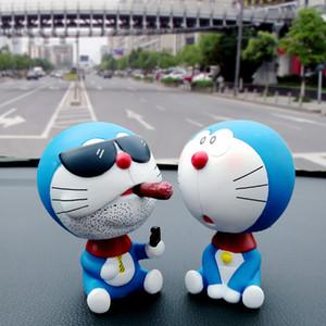 Auto-Verzierungen Kopf schütteln für Doraemon Spielzeug Nichtraucher Autoinnenarmaturenbrett Dekoration Zubehör Puppen PVC Weihnachten