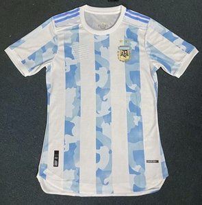 Copa America 2020 Argentinien-Fußball-JERSEYS 2021 Player Version HOME messi weg HIGUAIN AWAY ICARDI Kun Agüero FUSSBALL JERSEY SHIRTS
