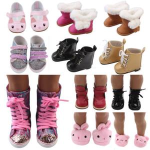 18inch Bizim Nesil My Life Bebekler Yenidoğan Bebek Boys Kız Ayakkabı için Bebek Giyim Pajames Ayakkabı Kış Bebek Ayakkabı Isınma