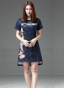 Designer abiti delle donne di moda casual vestito da estate del breve manicotto floreale lettere Stampa abiti da Spalato formato M-3XL