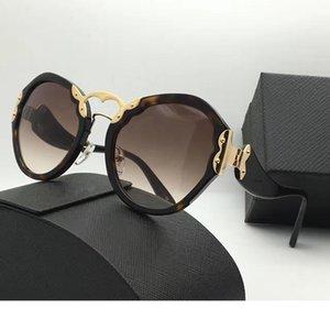 Forma gafas de sol redondas retro del SPR 09T lujo de la manera del estilo de la protección UV400 verano de la vendimia mujeres populares de la marca del diseñador vienen con el caso