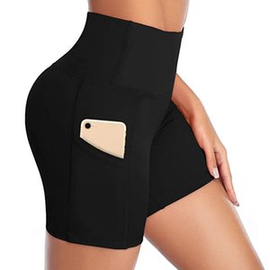 explosion models waist yoga pants pocket oblique running training sport tight-fitting gym shorts